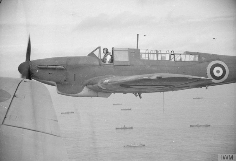 A Fulmar of 807 Squadron, Ark Royal, in April, 1941.