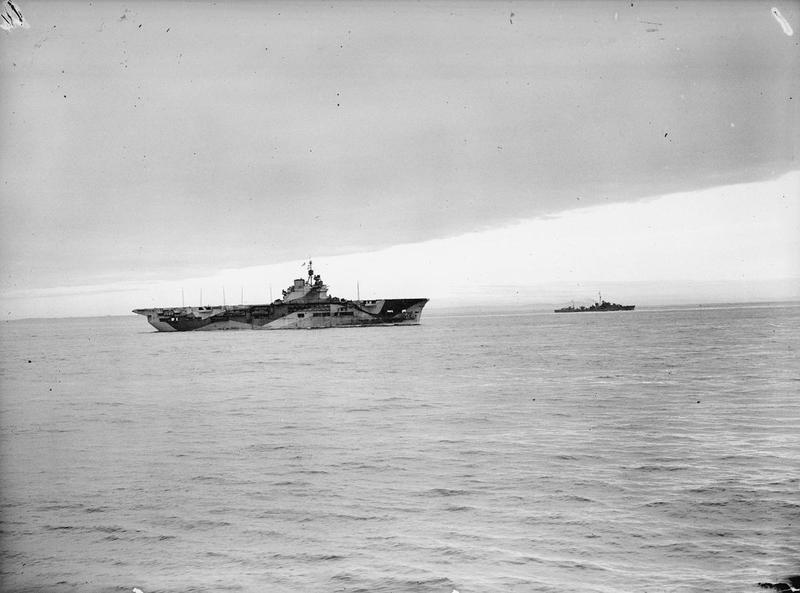 HMS UNICORN and HMS SAUMAREZ on 29 July, 1943.