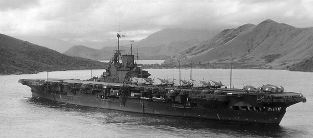 HMS VICTORIOUS at Noumea, New Caledonia.
