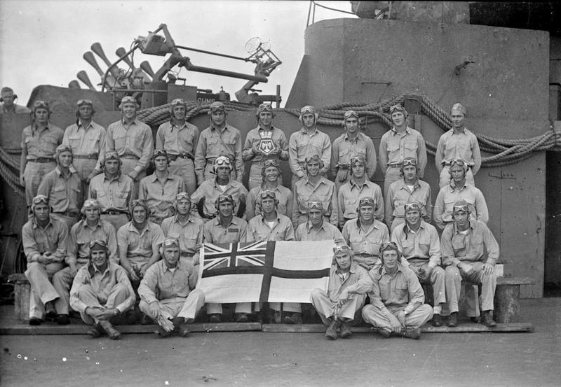 USN VF-3 Wildcat pilots aboard HMS VICTORIOUS