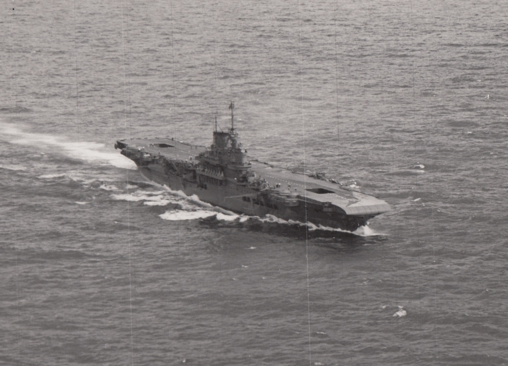 HMS VICTORIOUS at sea off Hawaii.