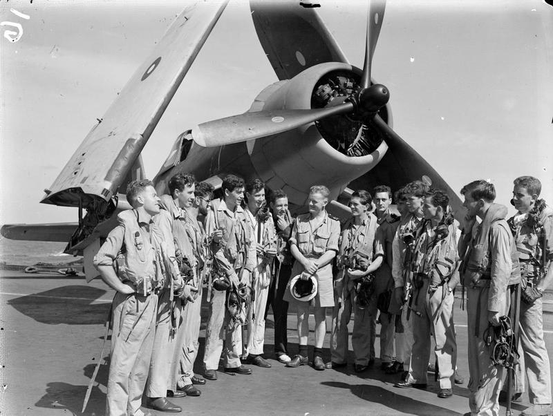 ILLUSTRIOUS's 830 Squadron Corsair pilots, some of whom took part in the Surabaya raid.