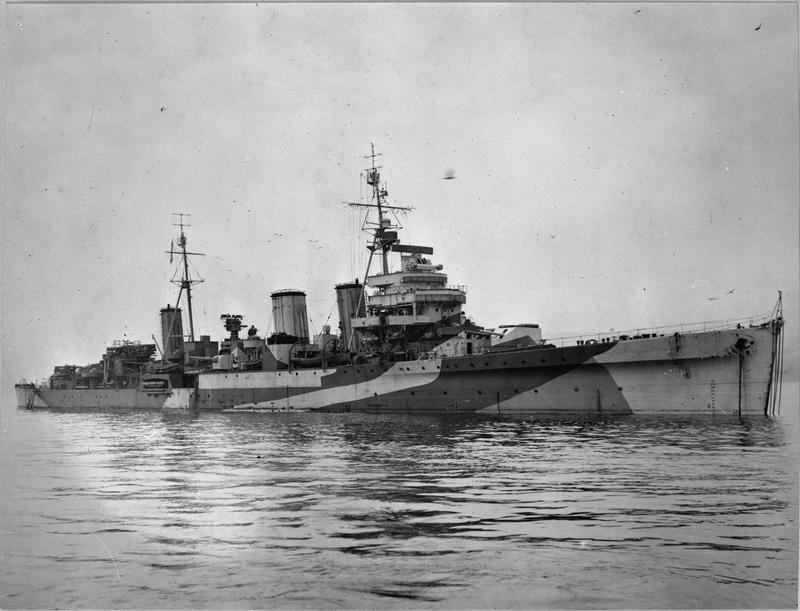 HMS Enterprise had been fitted with an experimental version of the twin 6 inch gun later used in the Leander class cruisers.