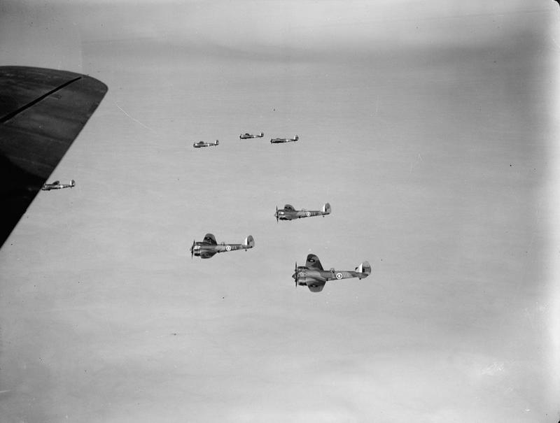 Blenheim Mk I's in formation.