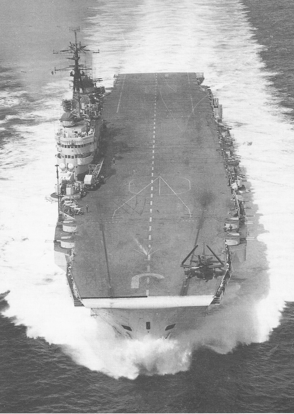 HMS Eagle in what was very close to her 1945 configuration in 1954.