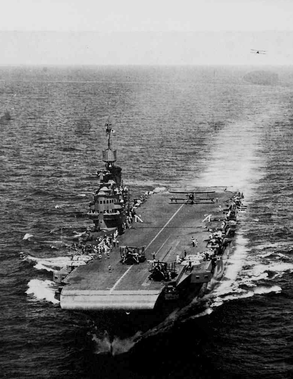 HMS ILLUSTRIOUS landing Swordfish in June 1940. Picture: Fleet Air Arm Museum CARS 1/171