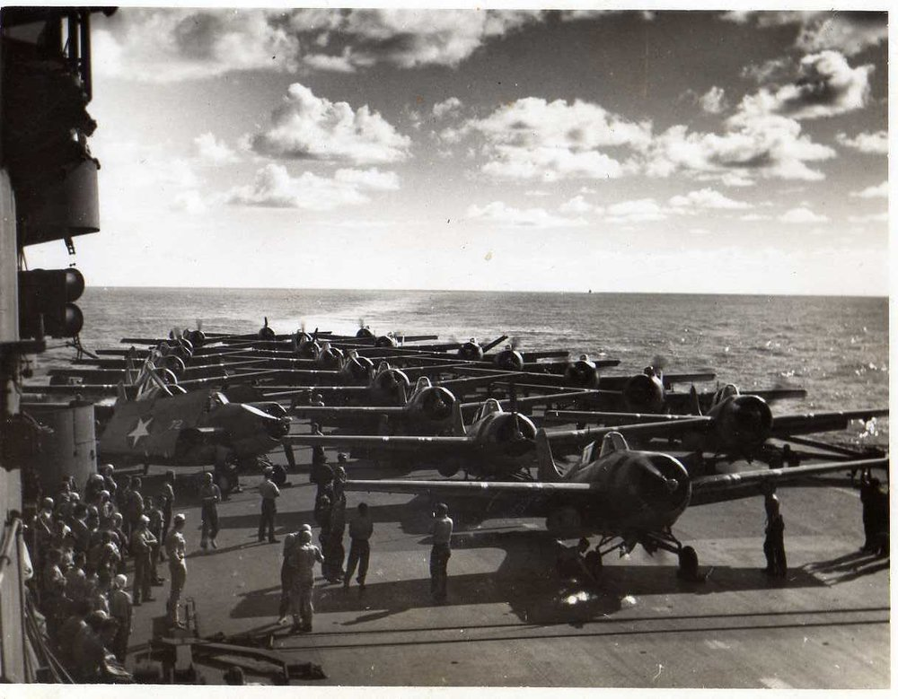 USN and FAA Wildcats aboard HMS Victorious (USS Robin) while operating as a 'fighter carrier' in 1943. Picture thanks to David Reid
