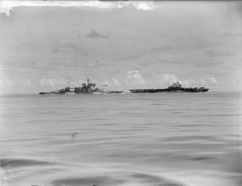 HMS FORMIDABLE in company with WARSPITE.