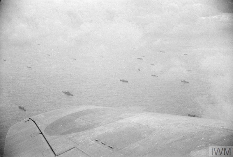 Fleet Air Arm planes patrolling over a convoy, April 1941/