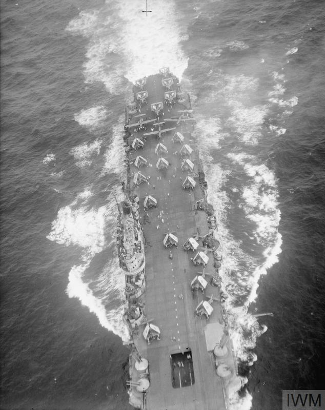 Mis-captioned HMS INDOMITABLE by the IWM, this is in fact VICTORIOUS