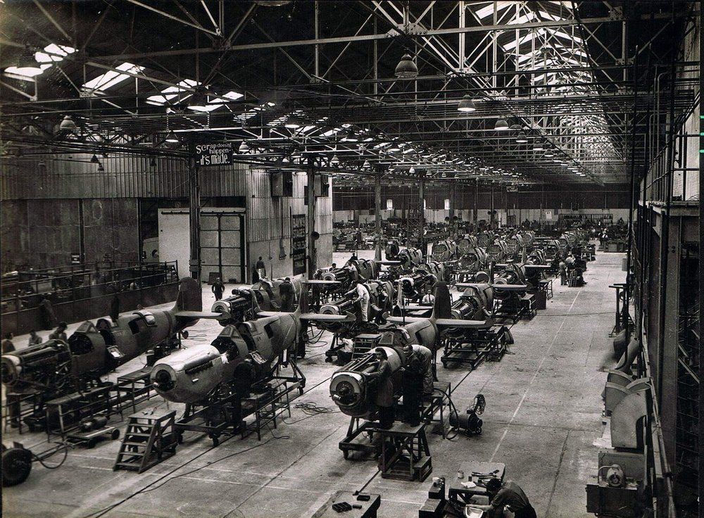 Cunliff-Owen Seafire production facility at Southampton.