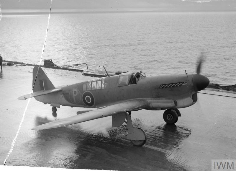A prototype Firefly, two seater long range fighter on the flight deck of HMS ILLUSTRIOUS.