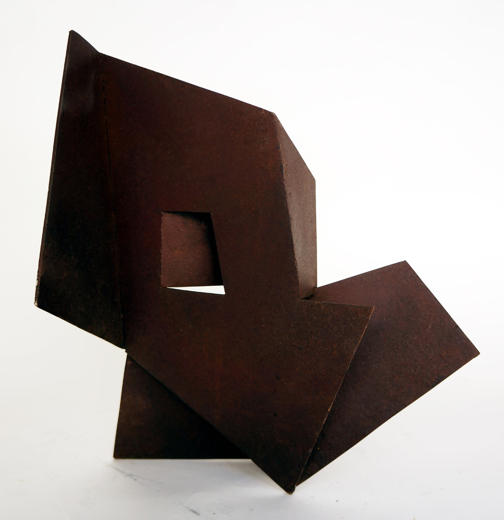 "Folded Form #7  1988 Steel 19"" x 14"" x 10.5"""