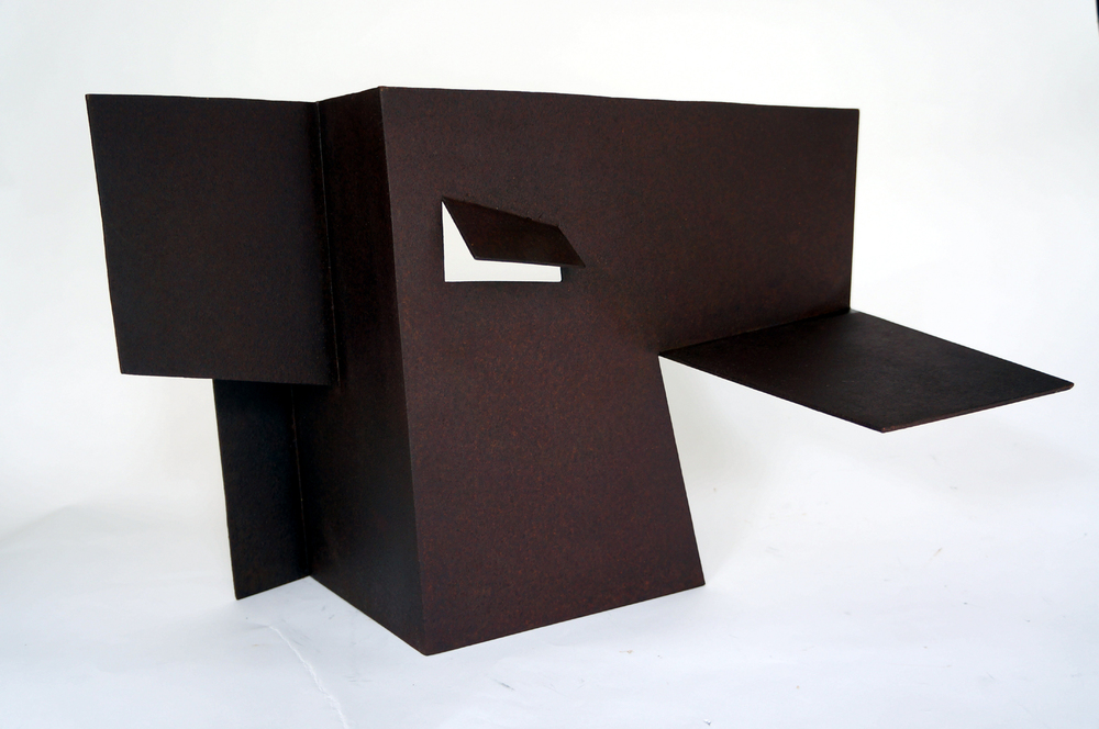 "Folded Form #8  1988 Steel 21"" x 16"" x 13.5"""