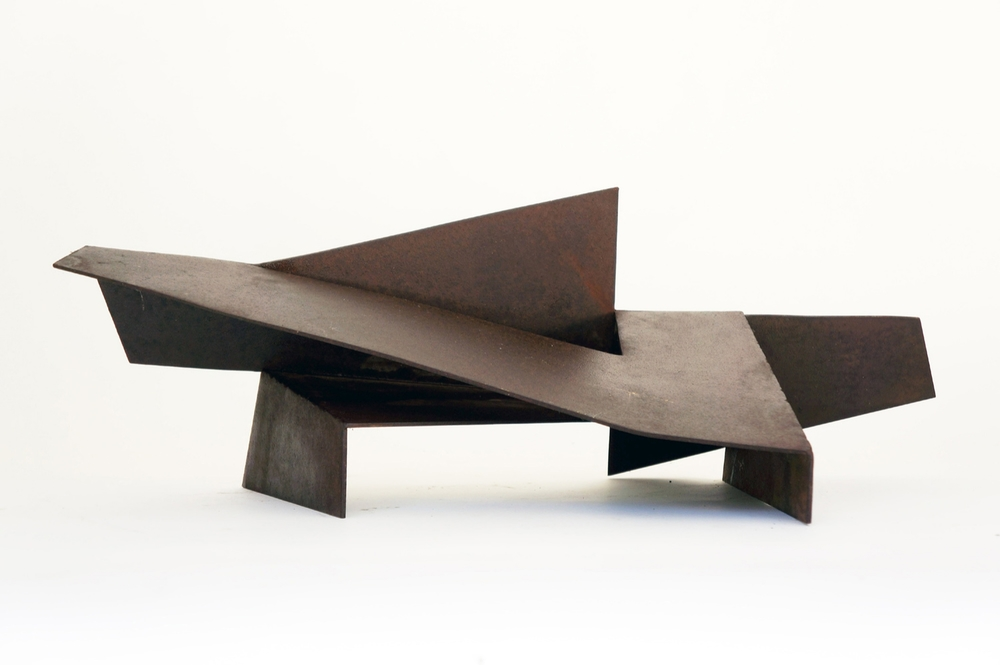"Folded Form #9  1988 Steel 22"" x 10.5"" x 8"""