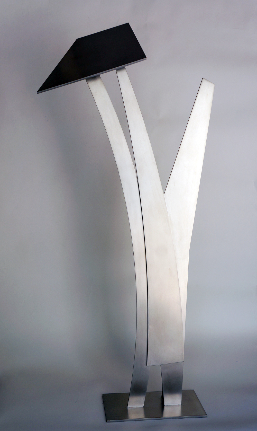 "Shadow Play  2015 Stainless Steel 49 1/2"" x 22"" x 8"""