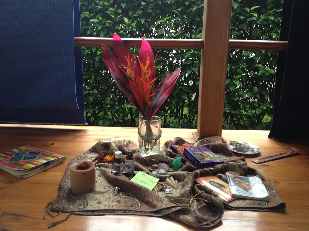 A sacred altar at one of my meditation workshops.