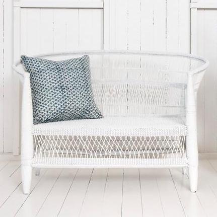 Malawi Sofa- White   1470mm (L) x 600mm (D) x 850mm (H) $320