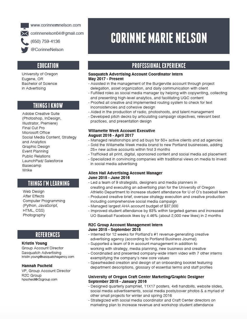 resume cn