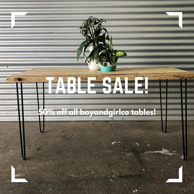 💥 S U S T A I N A B L E  S A L E 💥 . The entire boyandgirlco table range is 50% (for a limited time folks)! . Head to www.boyandgirlco.com.au to get yours 🙌🏻