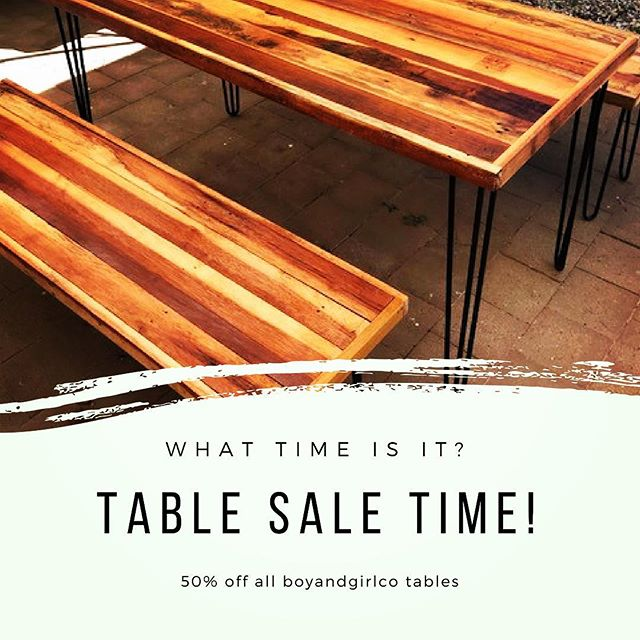 🙌🏻💕 T A B L E  S A L E ! 💕🙌🏻 Woo-hoo!!!! For a limited time, our tables are 50% off.  Head to www.boyandgirlco.com.au and grab your offer now. Boom!