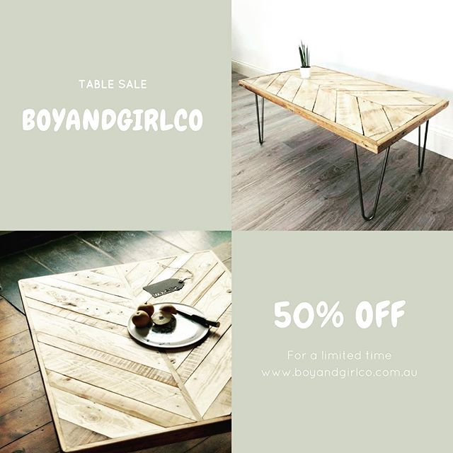 🌱 S A L E  E N D S  T O D A Y 🌱 . All boyandgirlco tables are 50% off!