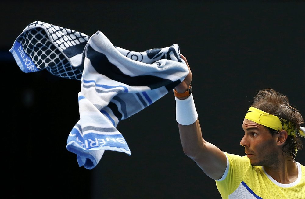 Rafael Nadal and Australian Open towel by Sheridan