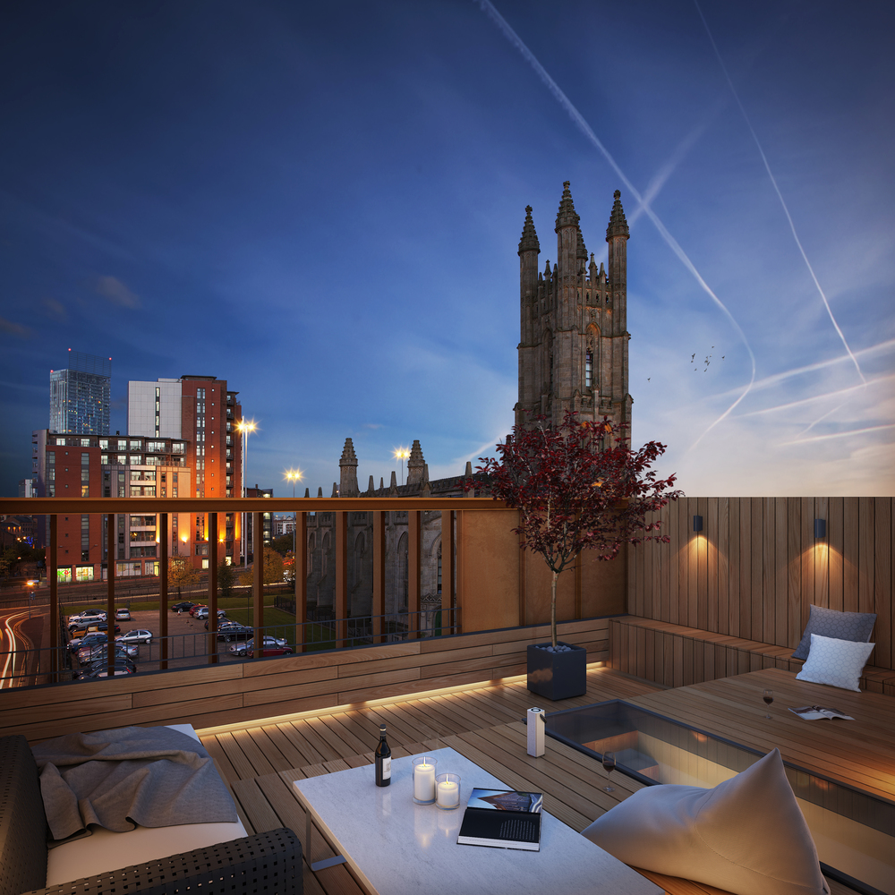 CGI of the Roof Gardens