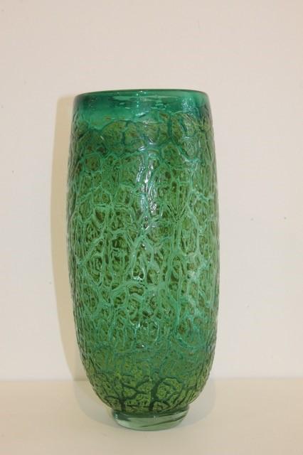 Title: Green Crackle Vase