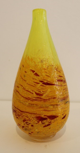 Title: Yellow Single Stem Vase
