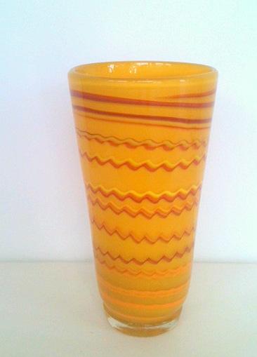 Title: Tall Yellow Vase