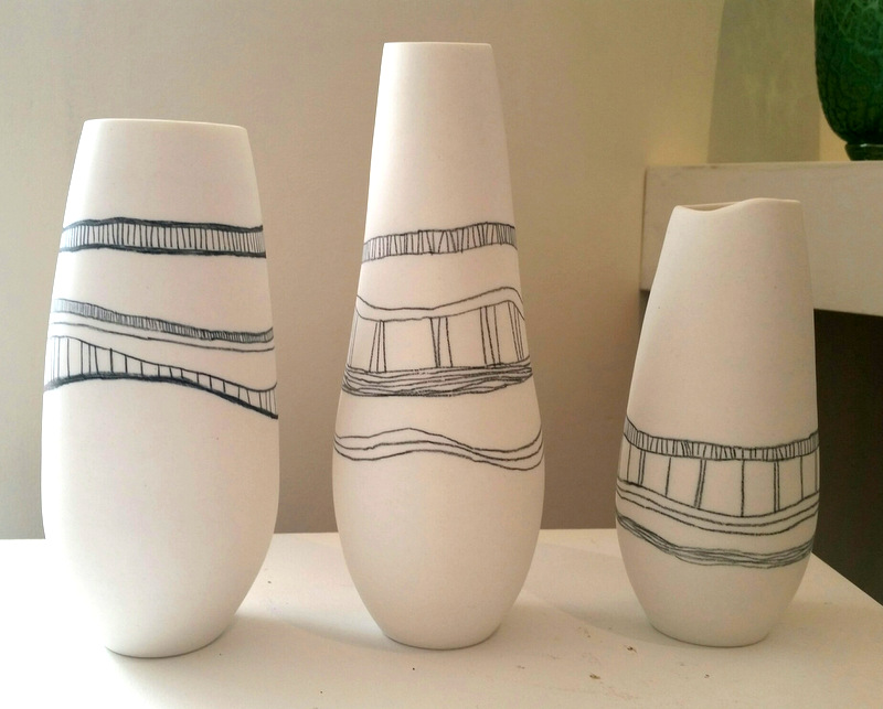 Title: Stratum Series Vases