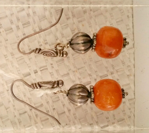 Title: Mali Amber Earrings #232