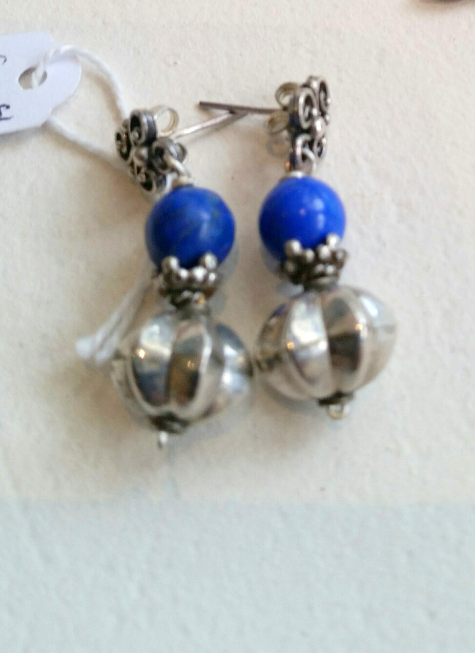 Title Lapis Lazuli & Silver Earrings #197