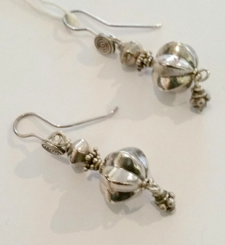 Title: Large Silver Earrings #106