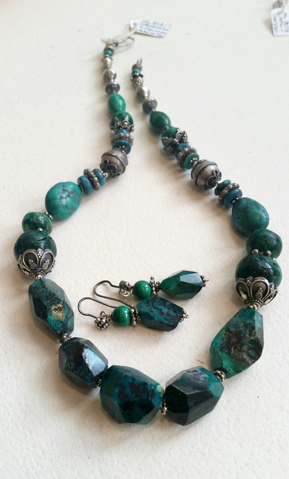 Title: Chrysocollo, Malachite & Turquoise Necklace #303