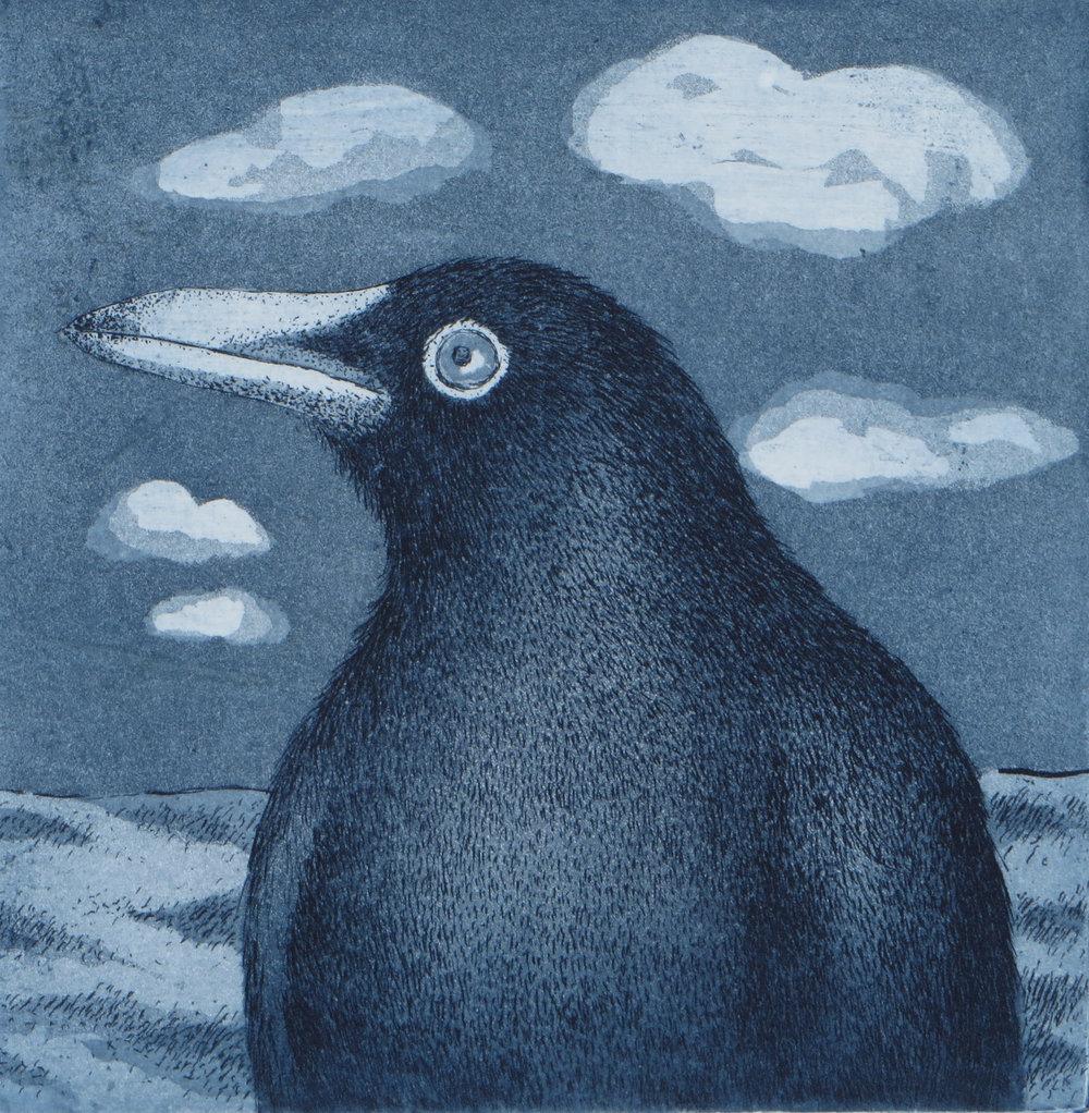 Title: Portrait of a Crow
