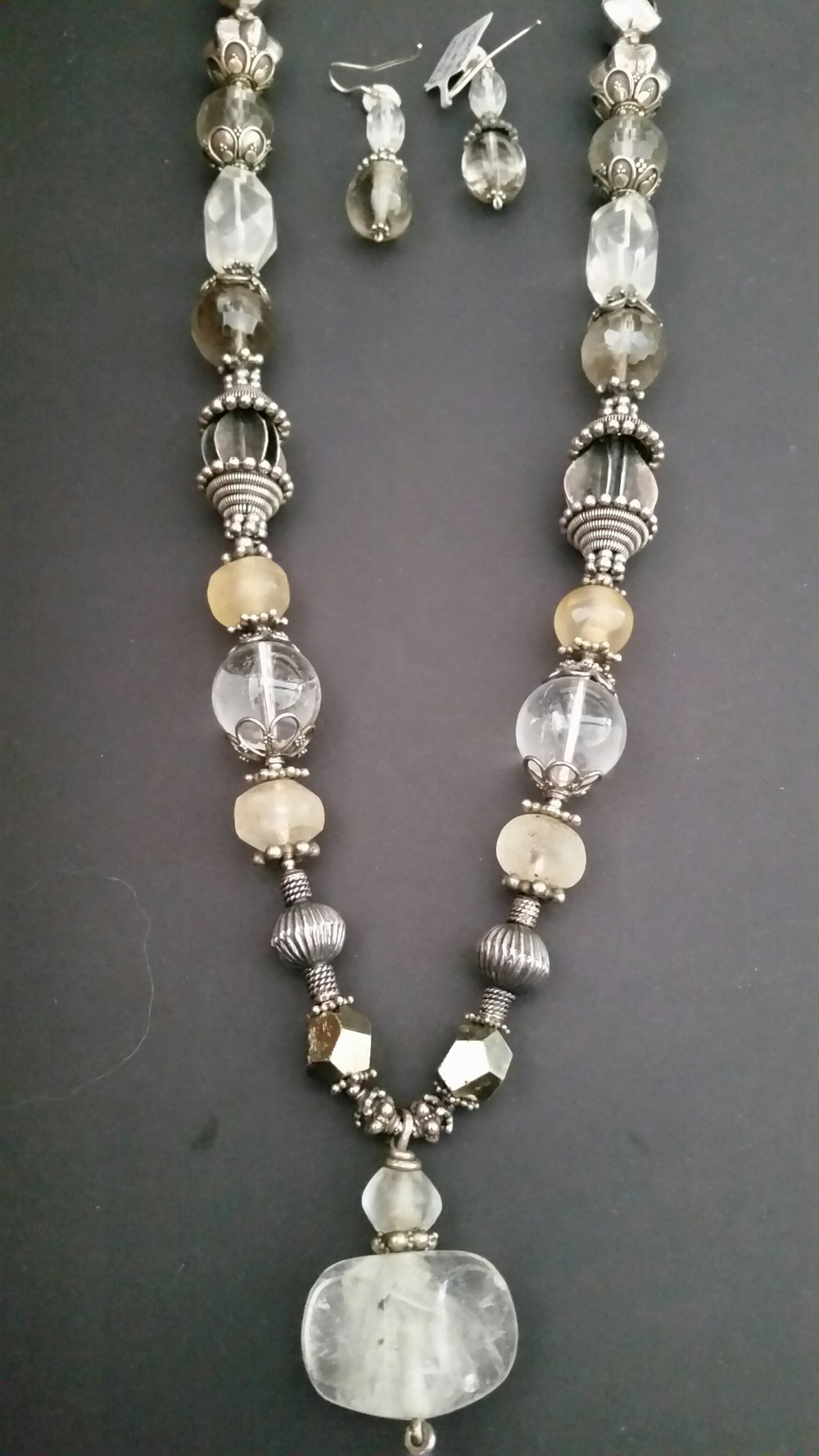 Title: Neckpiece Ancient Bactarian Crystal Quartz  #3