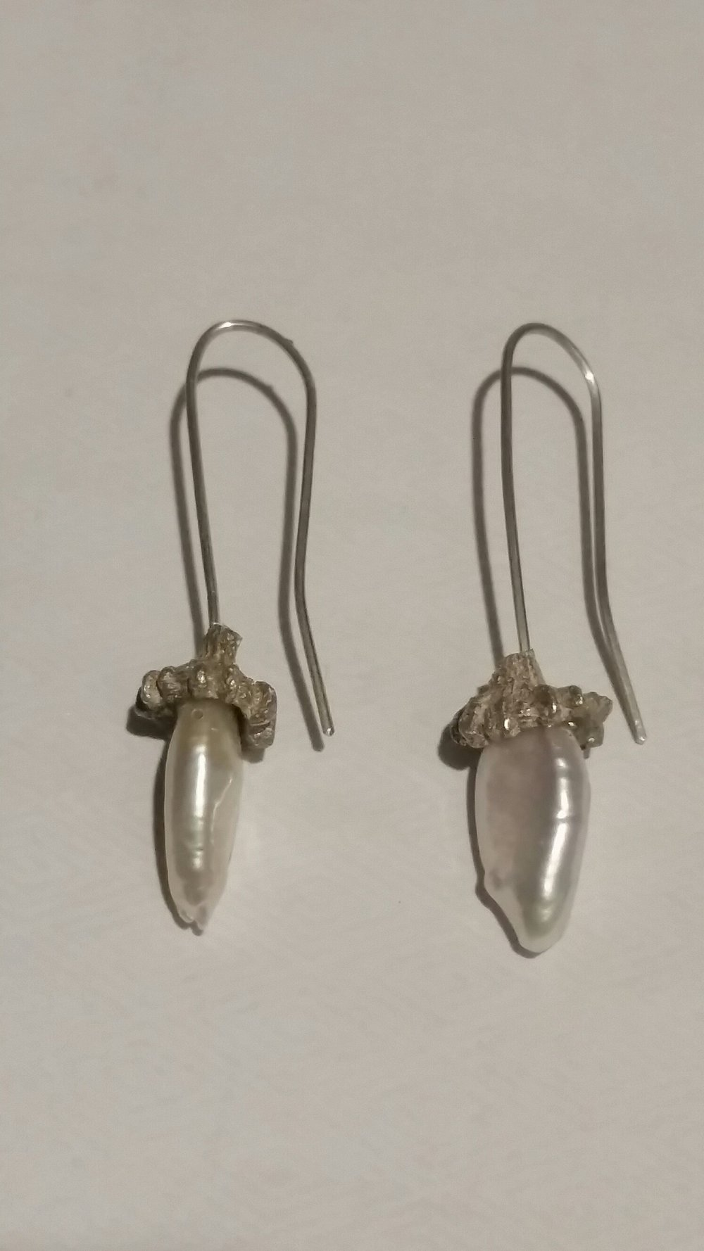PEARL AND SILVER EARRINGS #19