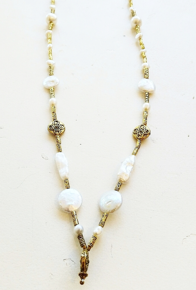 LONG PEARL NECKLACE #5