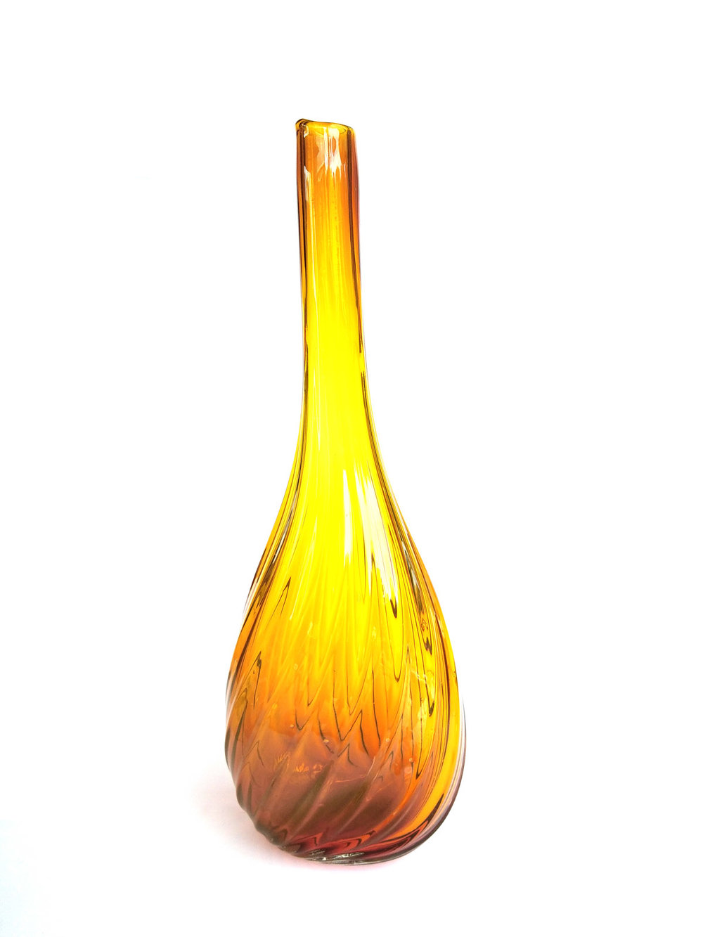TALL YELLOW NECKED VASE (OPTICALS RANGE)