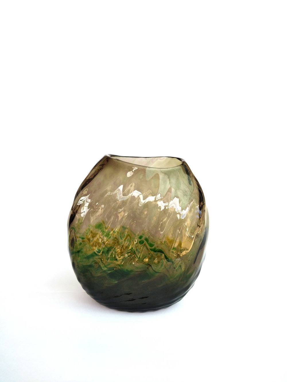 BRONZE GREEN VASE (OPTICALS RANGE)