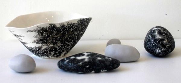 Large Bowl and Pebble set #22