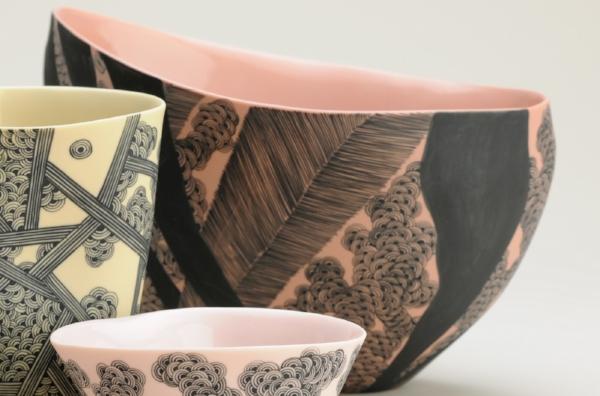Pink Boat Vase