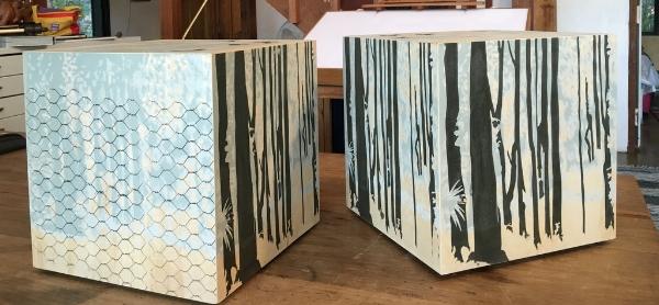 BUSH BLOCKS/BEDSIDE TABLES