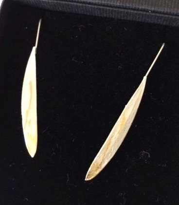 GOLDEN WATTLE LEAF EARRINGS