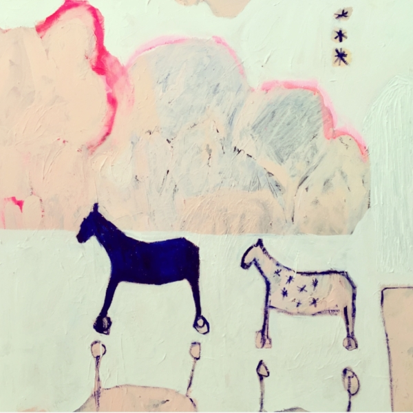 TWO HORSES, A CLOUD, THREE SISTERS AND A TIN SHED
