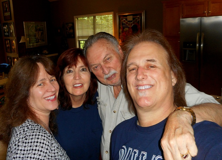 With Jim Gaines, Sandy Carroll and Jessica Athas at their home for a songwriting session.