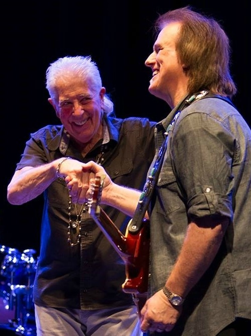 Rocky Athas with The Godfather of British Blues, John Mayall.