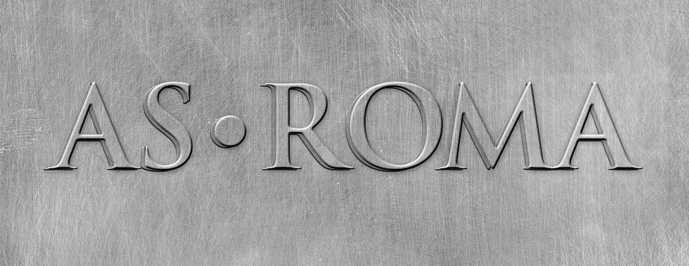 AS Roma Embossed Wordmark